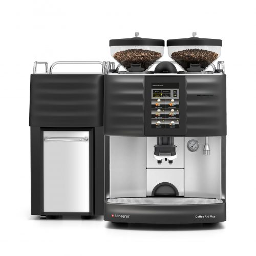 Schaerer Coffee Art with milk fridge