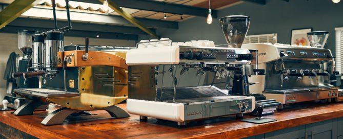 Caffeine Ltd Showroom - Conti Coffee Machine display