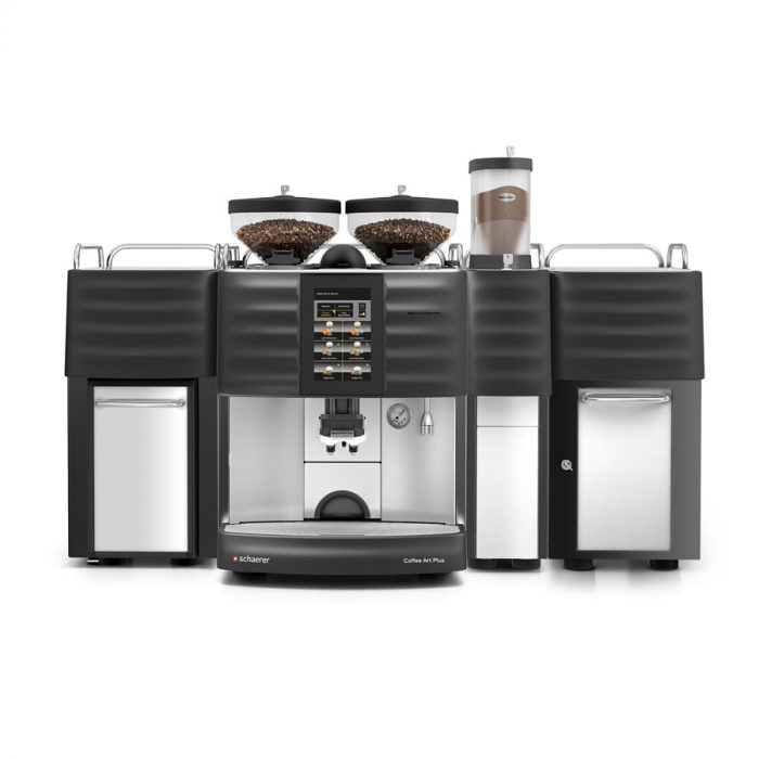 Schaerer Coffee Art Plus with extra hot chocolate and fridge